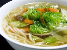 鶏塩や店長の日本一の比内地鶏ブログ-野菜たっぷり比内地鶏塩スープうどん