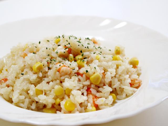 秋田の美味しい食べ方。比内地鶏ショップ名物店長の料理&釣りブログ-エビピラフの簡単レシピ5